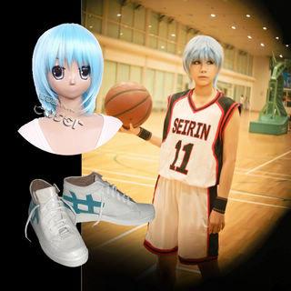 黒子のバスケ 誠凛高校 黒子テツヤ コスプレ衣装+コスプレウイッグ+コスプレ靴 3点セット