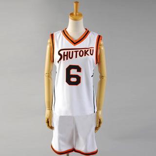 黒子のバスケ 秀徳高校 緑間真太郎(みどりま しんたろう) ユニフォーム コスプレ衣装(番号6)