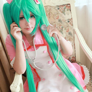 VOCALOID Hatsune Miku Nurse uniform Cosplay Costume