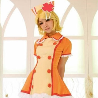VOCALOID Kagamine Rin Nurse uniform Cosplay Costume