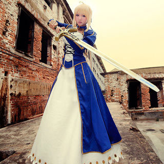 Fate/stay night Saber Knight Cosplay Costume