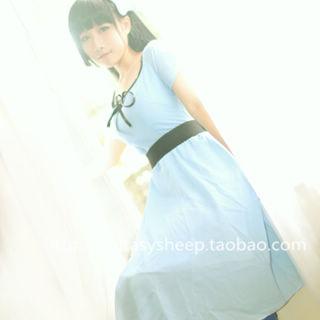 Sankarea Rea Sanka blue dress Cosplay Costume