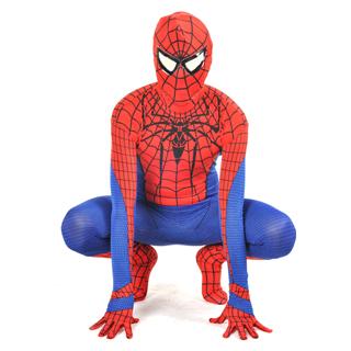 新作 通気 柔らかい レッド・ブルー スパイダーマン風 全身タイツ セクシー 忘年会 仮装 変装 コスチューム コスプレ衣装