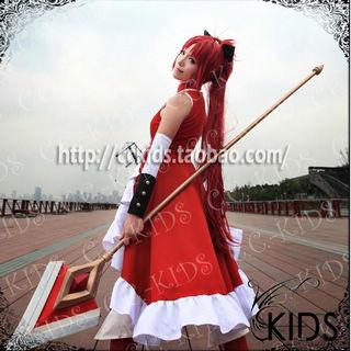 魔法少女まどか☆マギカ 佐倉杏子(さくら きょうこ) ワインレッド スーパーロング ストレート コスプレウィッグ