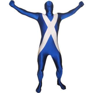 通気 柔らかい Scotland/スコットランド ライクラ 全身タイツ ボディスーツ 忘年会 仮装 変装 コスチューム