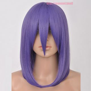Fate/Zero Sakura Matou Purple Short Straight Cosplay Wig