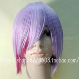 VOCALOID MEIKO Pink purple short cosplay wig