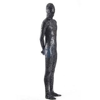 通気 柔らかい ブラック/黒 メタリック ライクラ  中等の弾力性 全身タイツ ボディスーツ 仮装 コスチューム