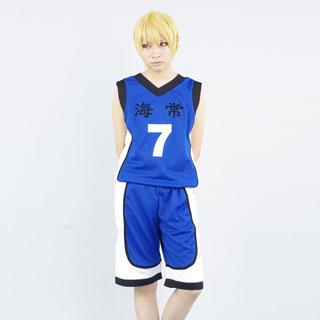即納◆ 黒子のバスケ 海常高校 黄瀬涼太(きせ りょうた) ユニフォーム コスプレ衣装(番号7) S/M/L