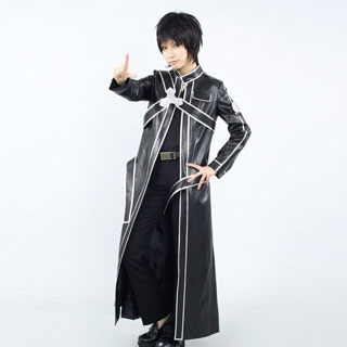 Sword Art Online Kazuto Kirigaya Black Cosplay Costume
