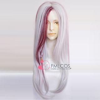 Sound Horizon Marchen Garasu no Hitsugi de Nemuru Himegimi MISIA Silver white wine Long Cosplay Wig