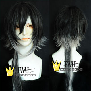 Sound Horizon Marchen Garasu no Hitsugi de Nemuru Himegimi Ordinary Light Medium silver gray Cosplay Wig
