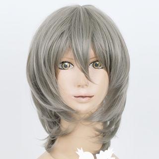Binbo-gami ga! Ichiko Sakura Gray Short Cosplay Wig