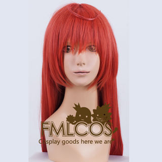Joshiraku Marii Buratei Red long Cosplay Wig