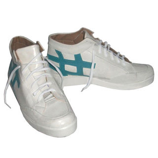 黒子のバスケ 誠凛高校 黒子テツヤ(くろこ テツヤ) ホワイト+绿  合皮 ミドルヒール コスプレ靴