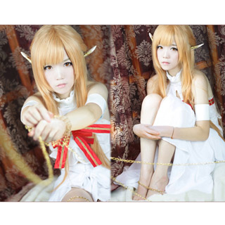 Sword Art Online SAO Alfheim ALO Asuna Cosplay costume dress