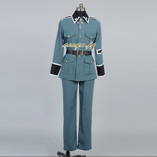 Axis Powers Hetalia Germany Army Coat Uniform Cosplay Costume