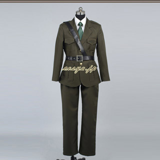 Axis Powers Hetalia England(United Kingdom, UK) Army Coat Uniform Cosplay Costume