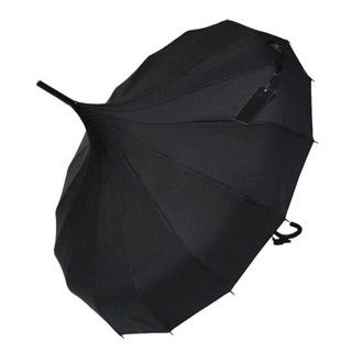 ロリィタ/ロリータ 黒 ブラック かわいいナイロン 防水 ロリータ傘 ゴスロリ