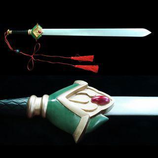 ツバサ-RESERVoir CHRoNiCLE- 李小狼(リ シャオラン)/桜/サクラ 剣 緑 コスプレ道具