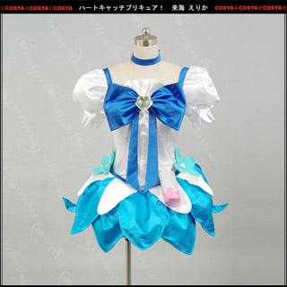 ハートキャッチプリキュア! 来海 えりか(くるみ えりか)/キュアマリン コスプレ衣装