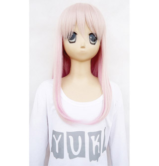 K Neko new material Pink Long Cosplay Wig