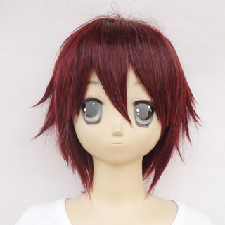 Hiiro no Kakera Takuma Onizaki Wine red heat-resistant new materials Short Cosplay Wig