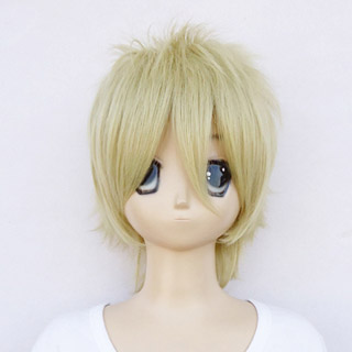 Blast of Tempest Mahiro Fuwa Yellow heat-resistant new materials Medium Cosplay Wig
