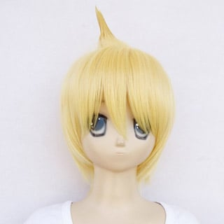 Magi Ali Baba Saruja Yellow heat-resistant new materials Short Cosplay Wig