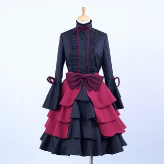 K/ケイ 櫛名アンナ コスプレ衣装ゴシック服 ドレス