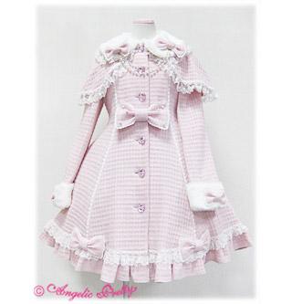 ロリィタ/ロリータ ピンク/黒/白 クラシック 恋するお姫様 ロリータコート ゴスロリ