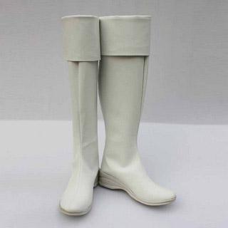 マギ ティトス・アレキウス ホワイト ロングブーツ 合皮  コスプレ  ブーツ