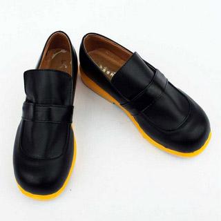 VOCALOID 鏡音レン/鏡音リン ブラック 合皮 ゴム底 低ヒール コスプレ靴