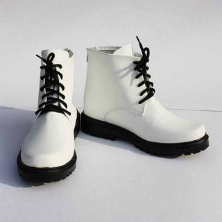 K/ケイ 夜刀神 狗朗(やとがみ くろう) ホワイト 合皮 ゴム底 低ヒール コスプレ靴