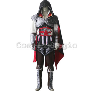 Assassin's Creed 2 II Ezio Black Version Cosplay Costume
