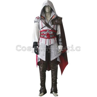 Assassin's Creed 2 II White Version Cosplay Costume