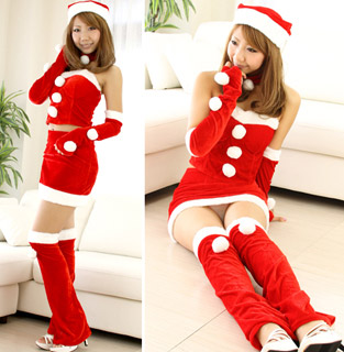 5 Pieces Santa Claus Christmas Costume