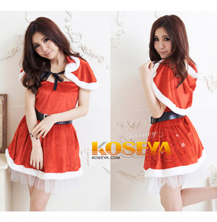 Red Hot Riding Hood Christmas Costume Dress