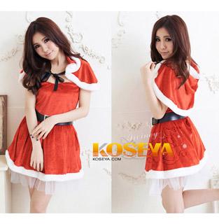 即納◆ クリスマス コスチューム ベーシックフード サンタ衣装