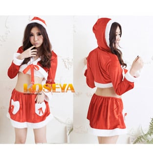 Red Sexy Santa Claus Costume Christmas Costume