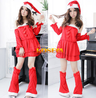 2012 New Santa Claus suit Christmas Costume