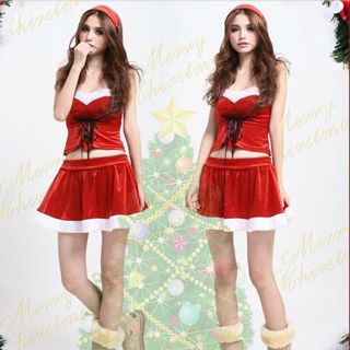 Red Santa Claus Costume Helper Christmas Costume