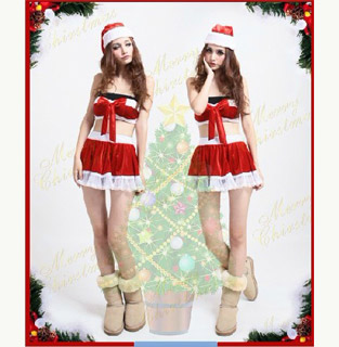 2 Pieces Santa Claus Costume Christmas Costume