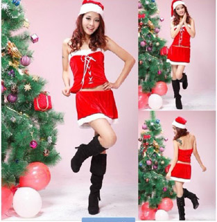 3 Pieces Santa Claus Costume Christmas Costume