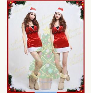 クリスマス コスチューム ジュエルチャーム サンタ衣装