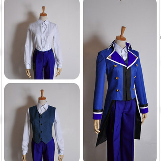 K (anime) Blue Club Scepter Cosplay Costume