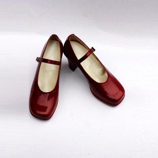 K/ケイ 櫛名 アンナ(くしな あんな)赤い 合皮 ゴム底 ハイヒール コスプレ靴