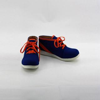 K/ケイ 八田 美咲(やた みさき)ブルーとレッド 合皮 ゴム底 低ヒール コスプレ靴