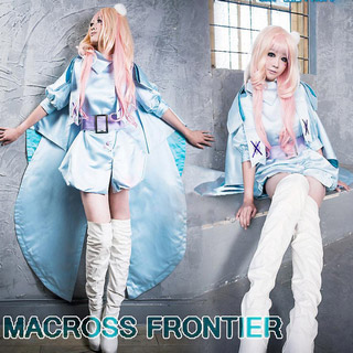 Macross Frontier Sheryl Nome White Rabbit Cosplay Costume
