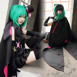 Macross Frontier Ranka Lee Black Rabbit Cosplay Costume